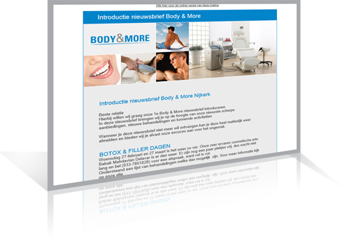 Body & More - Mailing ontwerp / ontwikkeling
