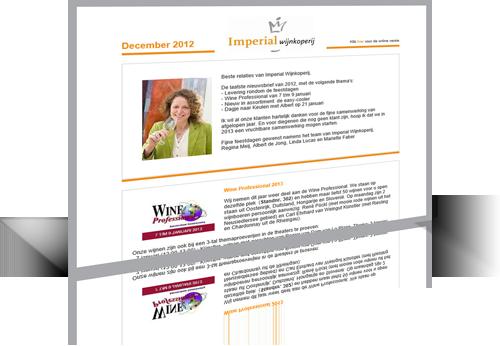 Imperial Wijnkoperij - Mailing ontwerp / ontwikkeling